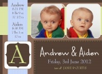 Double Beyond Compare - Twin Birth Announcement Cards