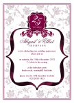 Anniversary Bouquet -  Wedding Anniversary Invitations