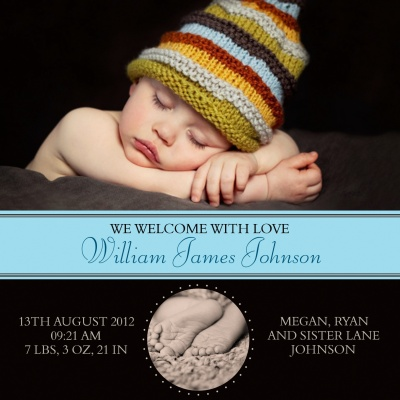 Birth Announcement Cards, Warmest Welcome Design