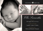 Rosebud - Baby Girl Announcement Cards