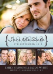 Merlot Marriage Date -  Save the Date Cards for Wedding