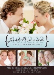 Share your nuptial news with beautiful Wedding Announcements from Simply to Impress! Choose from our wide variety of designs today.  - Merlot Marriage
