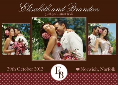 Wedding Announcements, Berry Chocolate Design