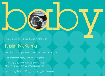 Baby Shower Invites , On His Way! Design