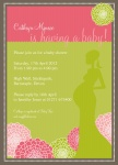 Swing Spring -  Baby Girl Shower Invites
