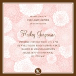 Dahlia Bouquet -  Baby Girl Shower Invites