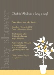 Lemon Tree Love - Neutral Baby Shower Invitations	