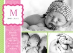 Pinky Minty -  Baby Girl Birth Announcements