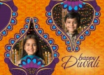 Royal Purple Diwali - Diwali Cards
