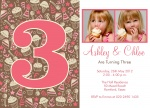 Terrific Twin Party Sweets -  Twin Birthday Invitations