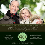 Emerald Love -  Wedding Anniversary Invitations