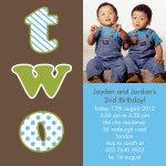 Two Terrific Twos - Twin Party Invitations