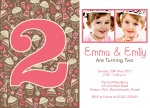 Double The Party Sweets - Twin Party Invitations