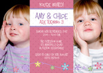 Peppy Party Girls - Twin Party Invitations
