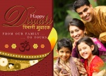 Diwali Family Diya -  Diwali Greeting Cards