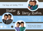 Two Princely Birthdays - Twin Party Invitations