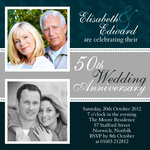 Blue & Silver -  Wedding Anniversary Invitations
