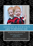 Our Jolly Boys - Twin Party Invitations