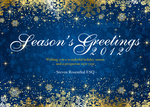 Golden Season Blue - Company Christmas Cards