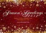 Golden Season Ruby - Company Christmas Cards