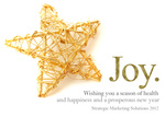 Gold Star -  Christmas Cards for Business