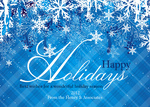 Blue Madras Holiday -  Christmas Cards for Business