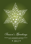 Perfect Star Green - Company Christmas Cards