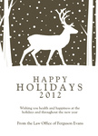 Slate Silhouette -  Christmas Cards for Business