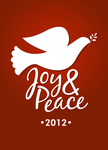 Peace Dove Red -  Christmas Cards for Business