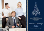 Perfect Tree Blue -  Christmas Cards for Business