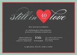 Heart Song -  Wedding Anniversary Invitations