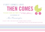 Carriage Ride -  Baby Girl Shower Invites