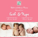 Sweet Starlings - Twin Birth Announcement Cards