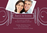 Deco Love Ruby -  Wedding Anniversary Invitations