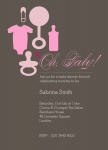 Baby Bag Pink - Baby Girl Shower Invitations