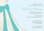 Bride's Bow -  Hen Night Invitations