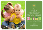 Green Willow Star -  Babys First Christmas Cards