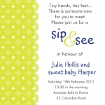 Sweet Lime Blue -  Arrival Shower Invitations