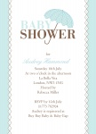 Diamond Ribbon - Neutral Baby Shower Invitations	