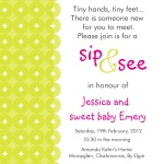 Sweet Lime Pink -  Baby Girl Shower Invites
