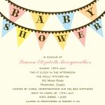Pastel Flags - Couples Baby Shower Invitations