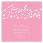 Pink Shower Flower -  Baby Girl Shower Invites