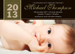 The Best Gift -  Christmas Birth Announcement Cards
