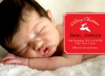 Prancer Perfection -  Christmas Birth Announcement Cards