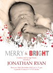 Berries & Boughs - Holiday Birth Announcement Cards