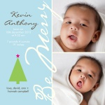 Our Little Merry - Holiday Birth Announcement Cards