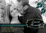 Teal Leaf Love - Engagement Party Invitations