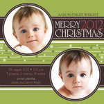 Circle Me Christmas - Holiday Birth Announcement Cards