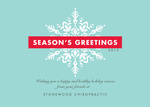 Snowflake Stripe -  Christmas Cards for Business