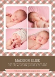 Miss Mint Print - Baby Girl Announcement Cards